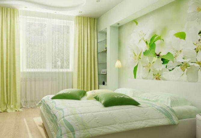Спальня дизайн фото зелёная