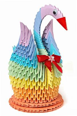 Оригами птицы из бумаги — мир увлечений.