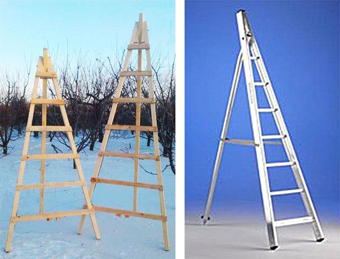 Лестницы стремянки для дачи своими руками 65